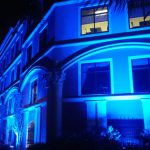 Valencia College District Office Lights It Up Blue