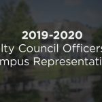 Announcing the 2019-2020 Faculty Council Collegewide Officers and Campus Representatives