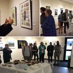 Cuban Artist Mingles With Students and Staff at Art Gallery Reception
