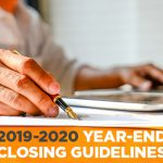 2019-2020 Year-end Closing Guidelines
