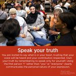 PJI Principle 9: Speak Your Truth