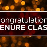 Congratulations to the Tenure Class of 2020