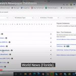 Courtney Moore Creates Newspaper Search Tutorial